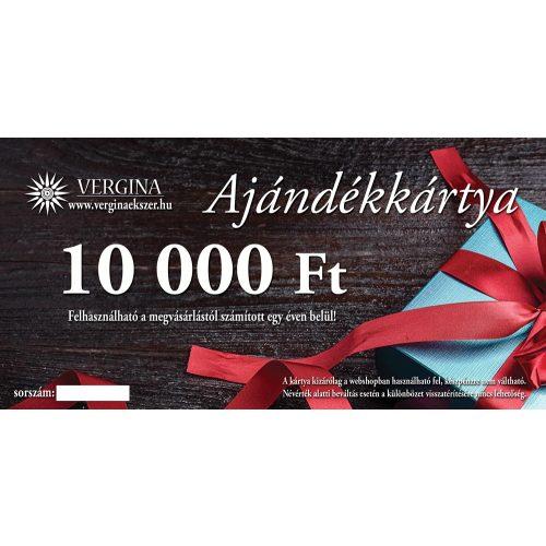Ajándékkártya 10.000 Ft