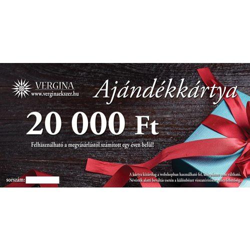 Ajándékkártya 20.000 Ft