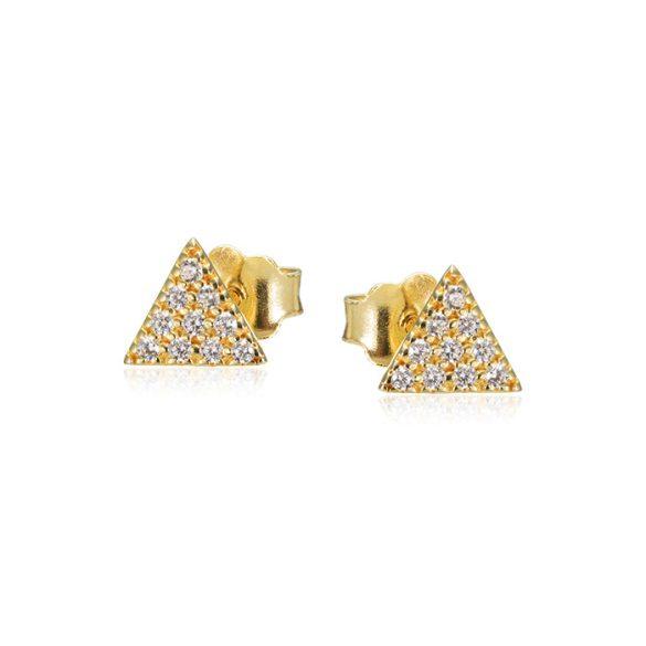 Háromszög arany fülbevaló