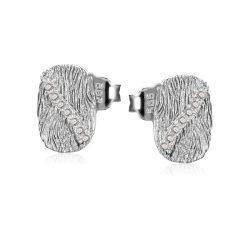 Köves fehérarany fülbevaló VE1651