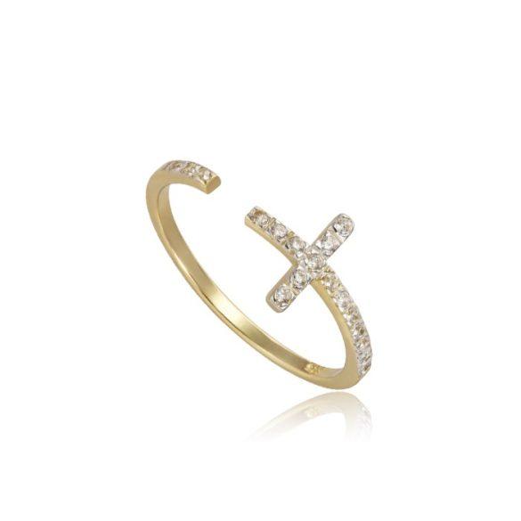 Keresztes arany gyűrű