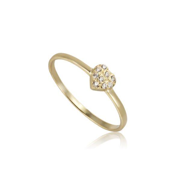 Szíves arany gyűrű