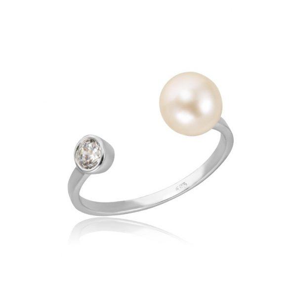 Gyömgyös, köves fehérarany gyűrű