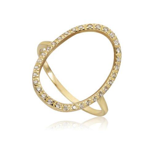 Fehér köves arany gyűrű VE1537