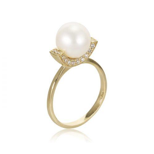 Gyöngyös arany gyűrű VE1542