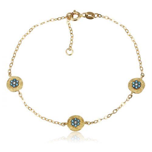 Kék köves arany karkötő VE1641