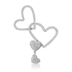 Fehérarany szív medál VE1550