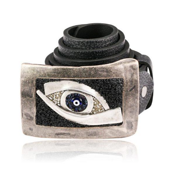 Egyedi bőröv szem mintával