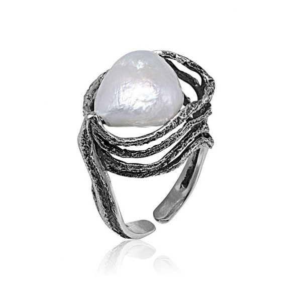 Ezüst Athina Gyűrű Gyönggyel