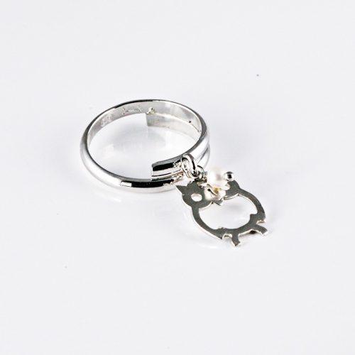 Bagoly Ezüst Gyűrű VEF058