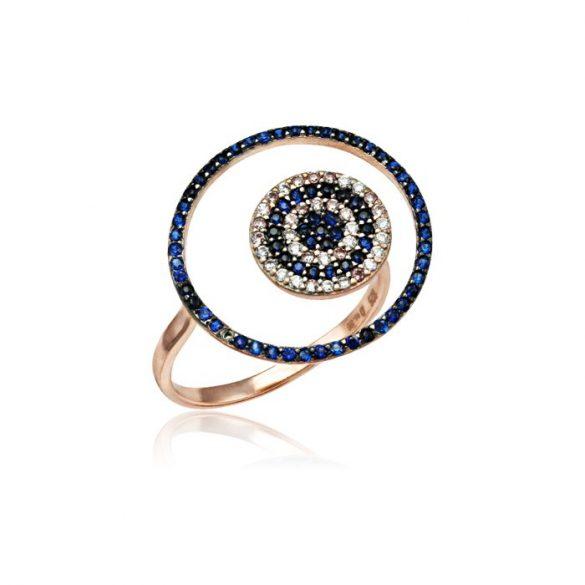 Ezüst Mosaic Gyűrű—fekete-fehér