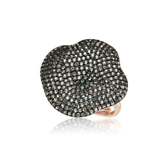 Ezüst Mosaic Gyűrű—fehér köves