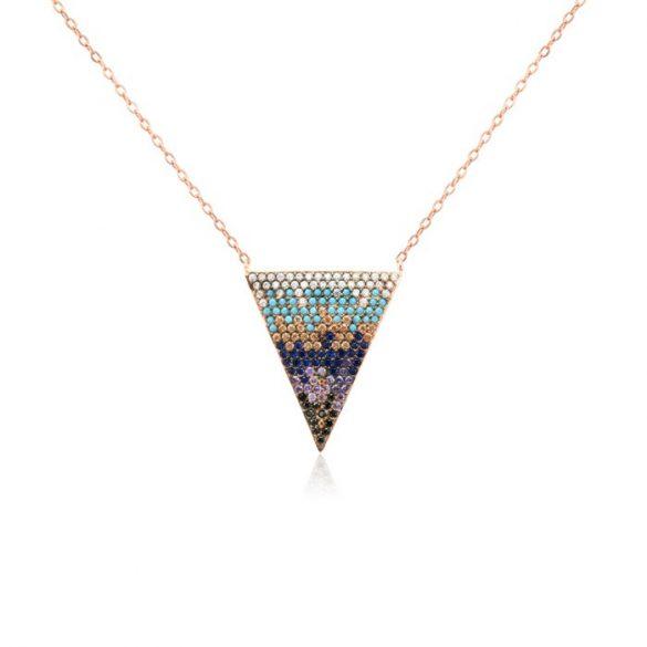 Ezüst Mosaic Nyaklánc—háromszög