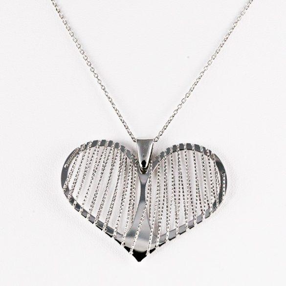 Ezüst Nyaklánc Nagy szív medállal