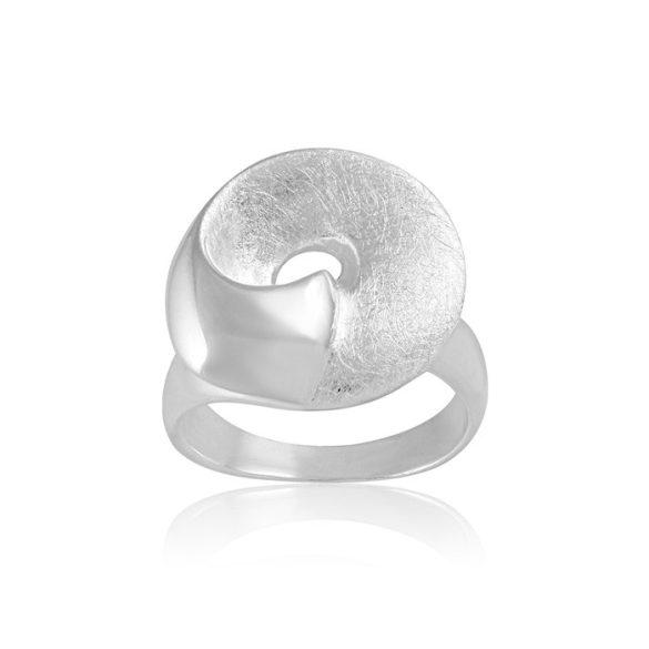 Ezüst Paros Gyűrű Fehér Mintáva