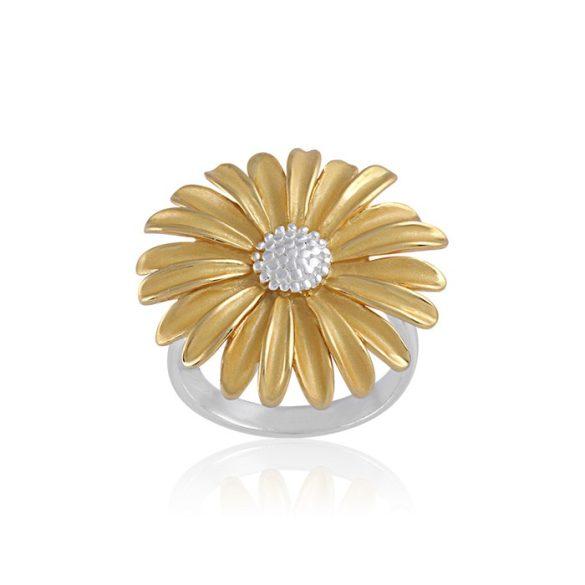 Ezüst Paros Gyűrű- margaréta