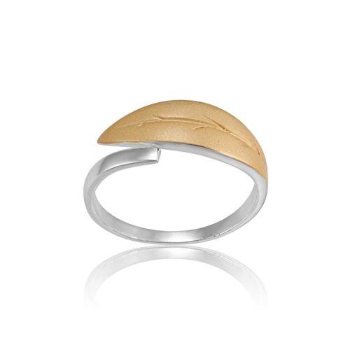 Ezüst Paros Gyűrű- levél VE046