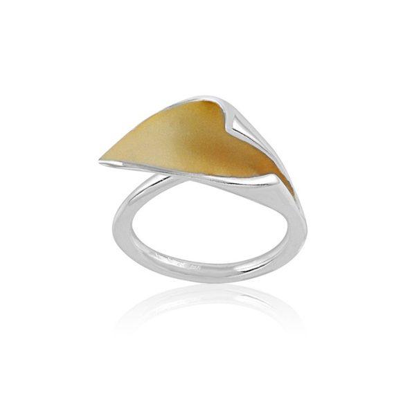 Ezüst Paros Gyűrű- tölcsér