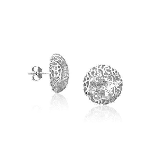 Ezüst Periklis Áttört Fülbevaló—ezüst