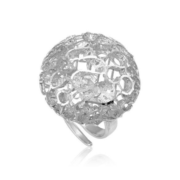 Ezüst Periklis Gyűrű – áttört korall forma ezüst színben