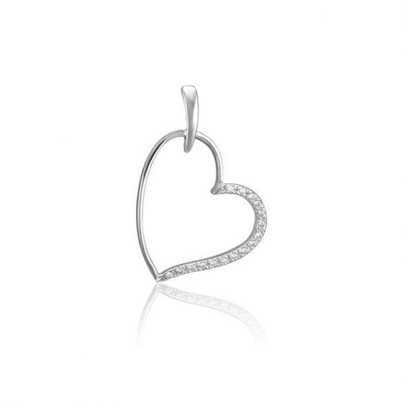 Ezüst Periklis Egyszerű Szív Medál