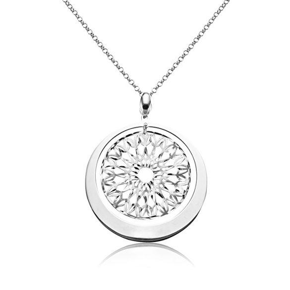Ezüst Periklis Kör Alakú Csipke Nyaklánc—ezüst