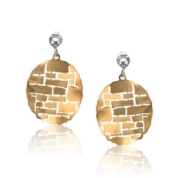 Ezüst Toscana Fülbevaló—kör, arany