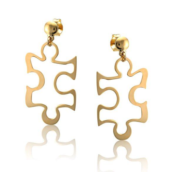 Ezüst Toscana Puzzle Fülbevaló- arany