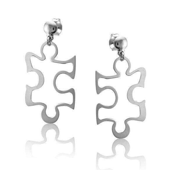 Ezüst Toscana Puzzle Fülbevaló