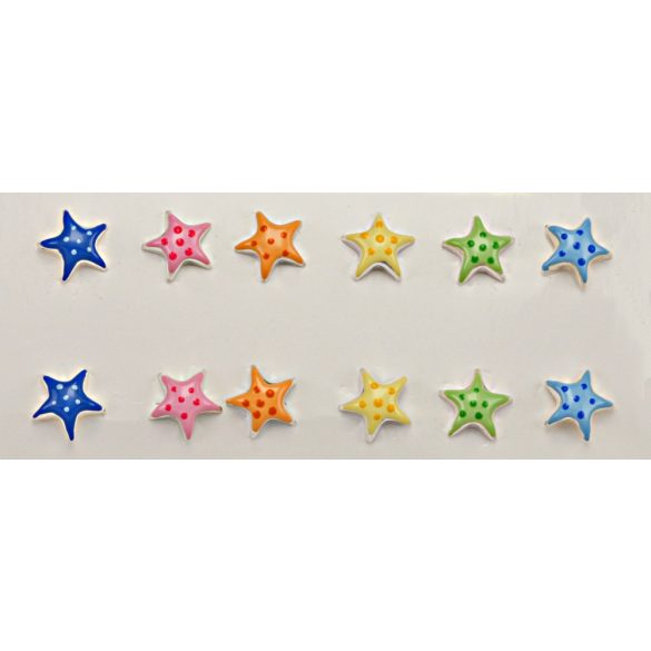 Ezüst Toscana Gyermek Fülbevaló— tengeri csillag