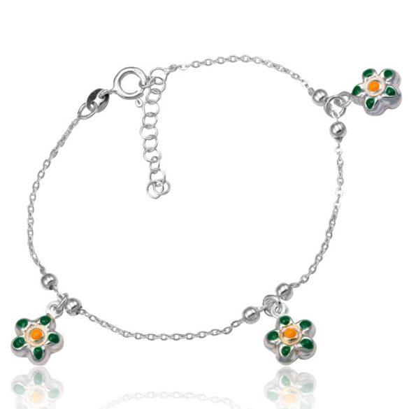 Ezüst Toscana Gyermek Karkötő— virág