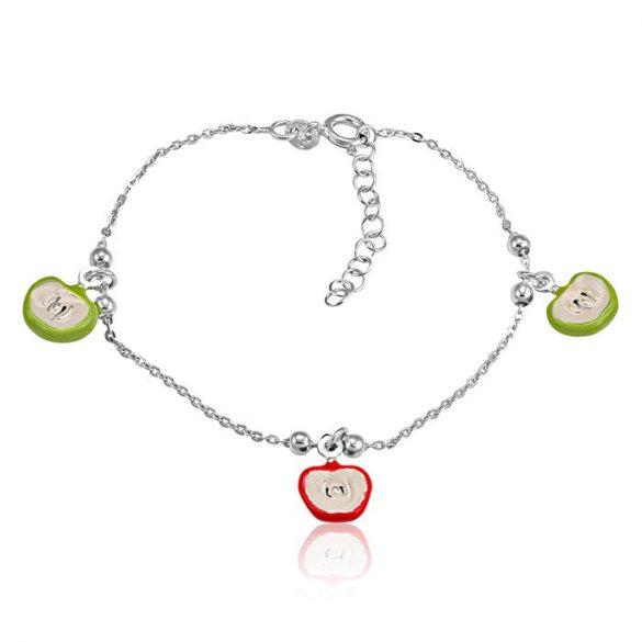 Ezüst Toscana Gyermek Karkötő— alma