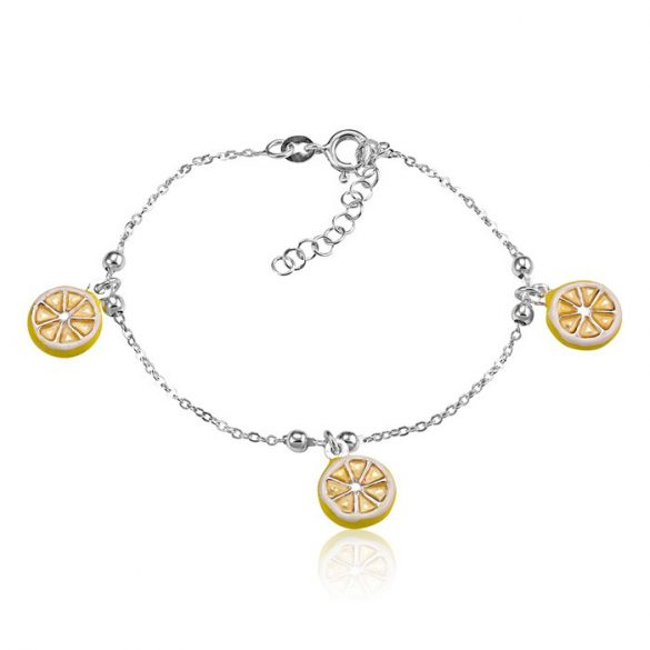 Ezüst Toscana Gyermek Karkötő— citrom