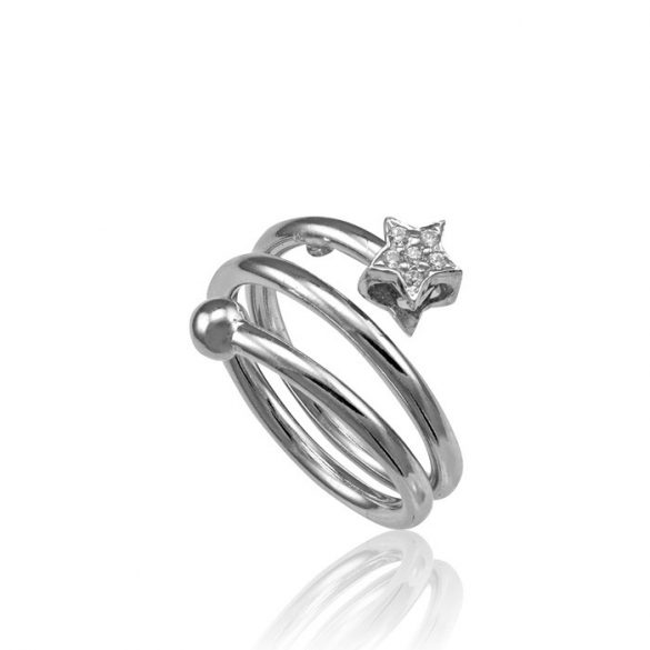 Ezüst Toscana Csillagos Gyűrű