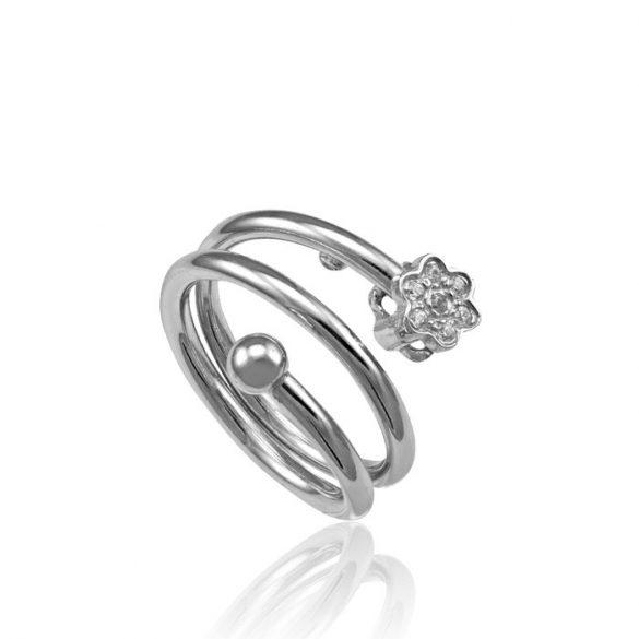 Ezüst Toscana Virágos Gyűrű