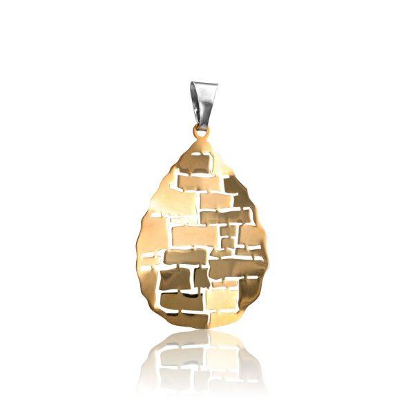 Ezüst Toscana Medál—csepp, arany