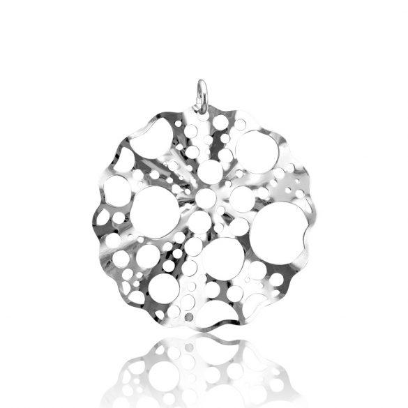 Ezüst Toscana Lyukacsos Kör alakú Medál