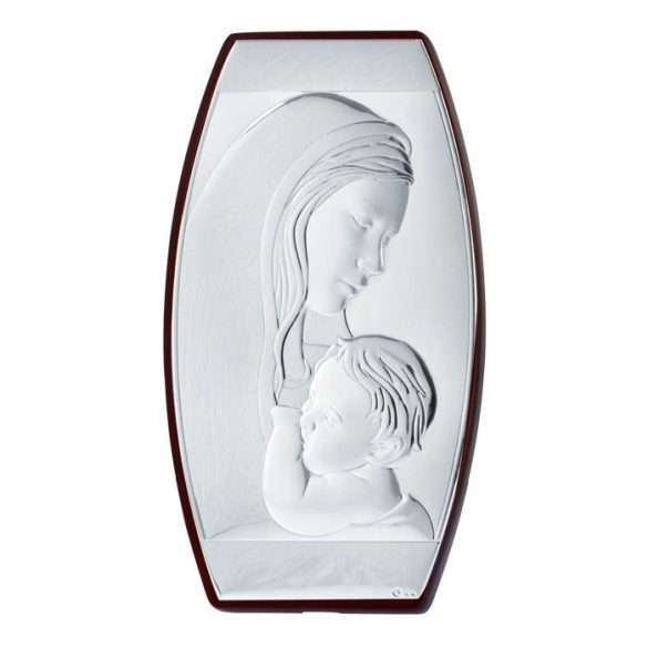 Anya és fia ikon fakeretben (Alumínium)