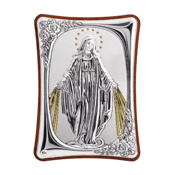 Mária ikon fakeretben, kitámasztóval